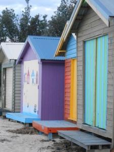 Beach huts at Dromana Beach